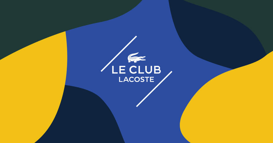 Deelnemen aan LE CLUB LACOSTE is de meeste elegante beslissing